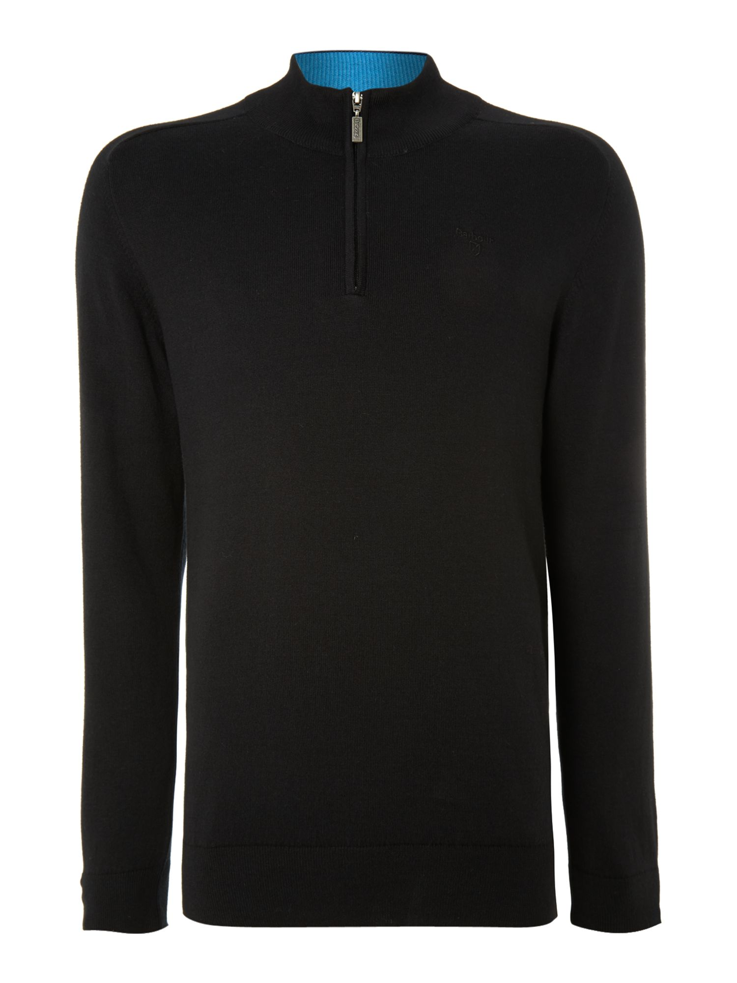 Cotton cashmere half zip jumper