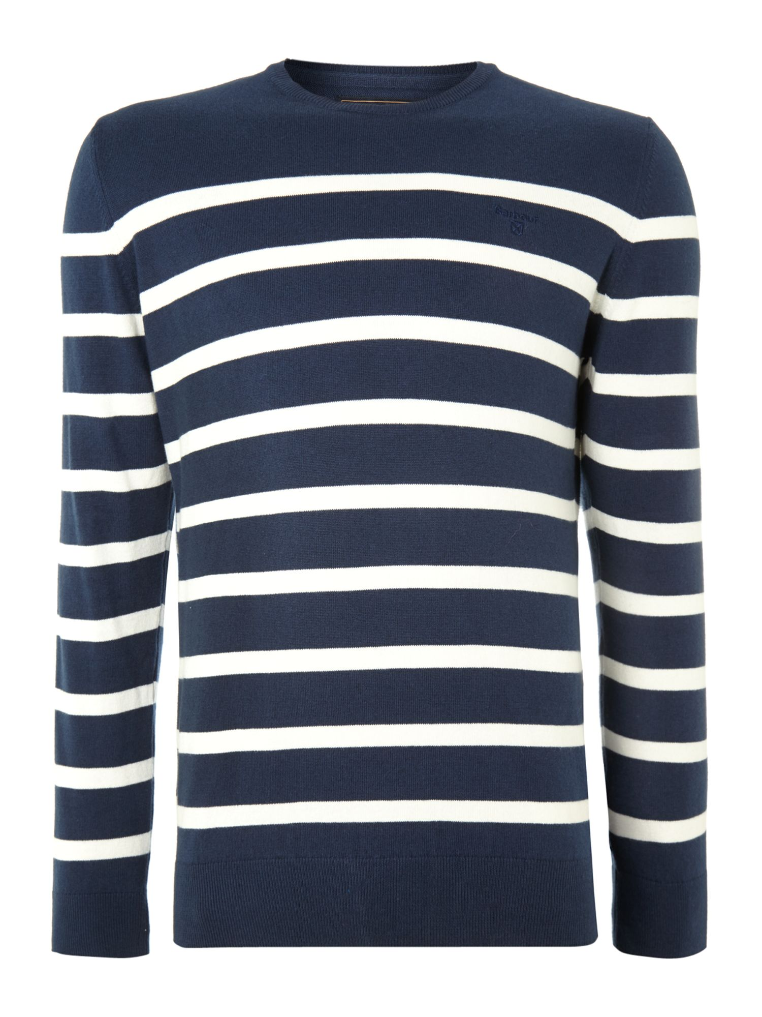 Cotton cashmere striped jumper