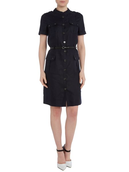 Barbour Rocklyn Linen Shirt Dress