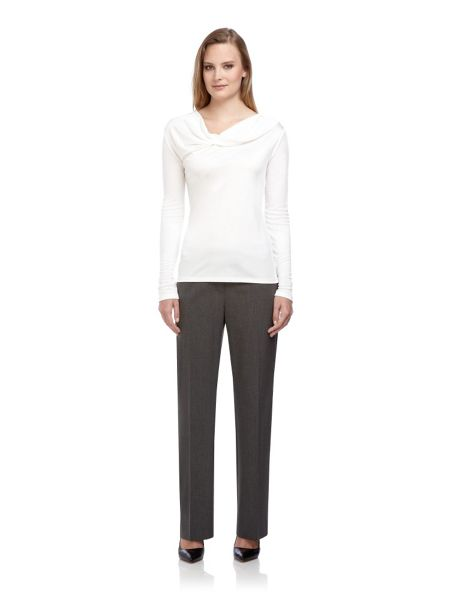 Planet Ivory cowl neck jersey top