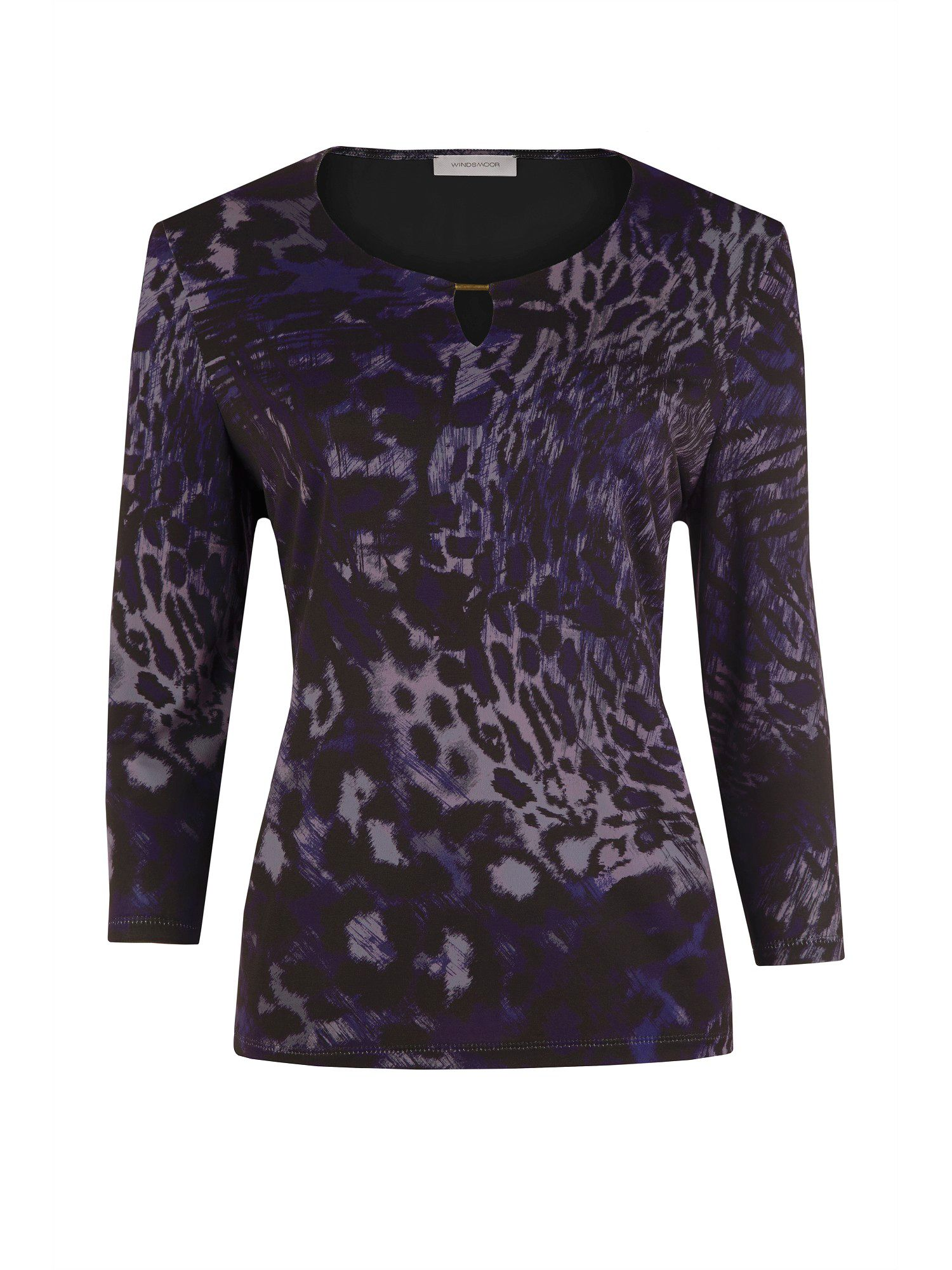 Abstract animal jersey top