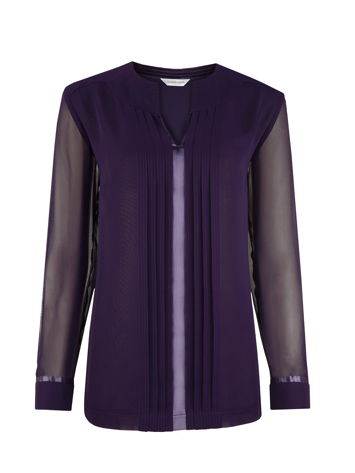 Damson pleated tunic