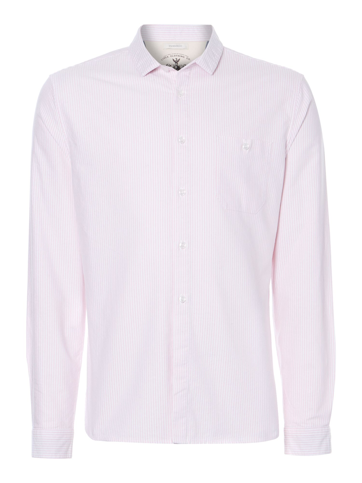 samson oxford striped long sleeved shirt