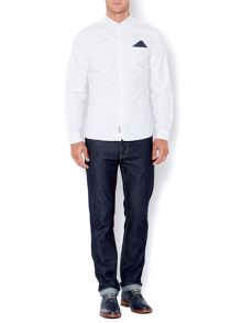 Vitto plain oxford long sleeved shirt