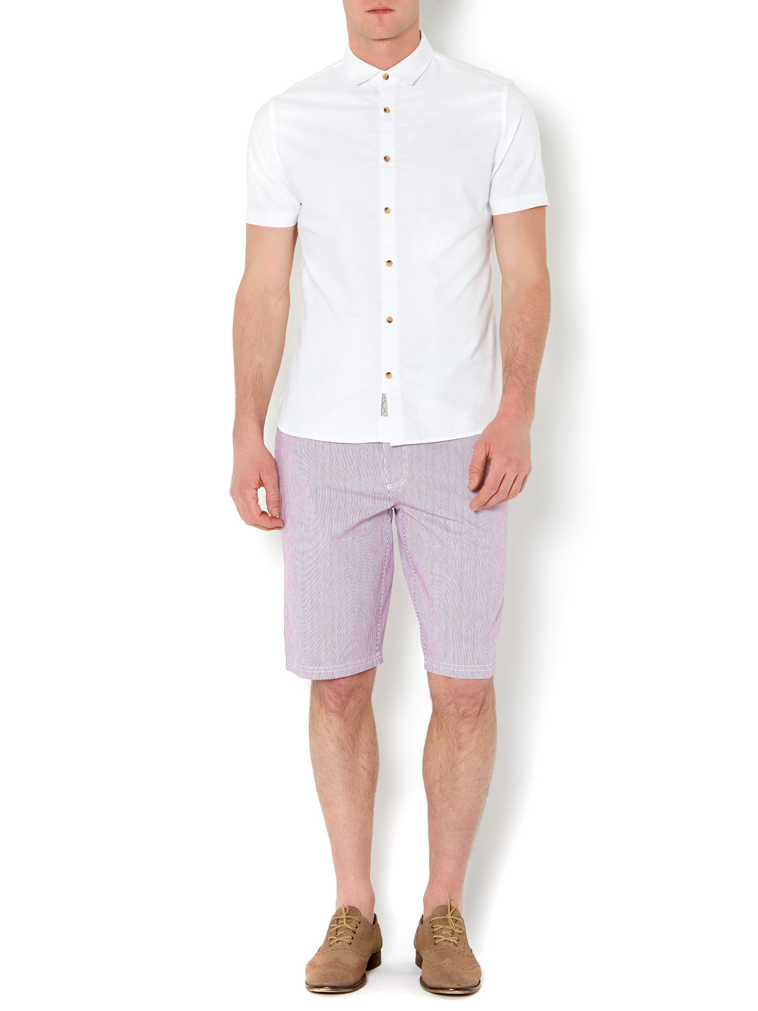 scott ticking stripe shorts
