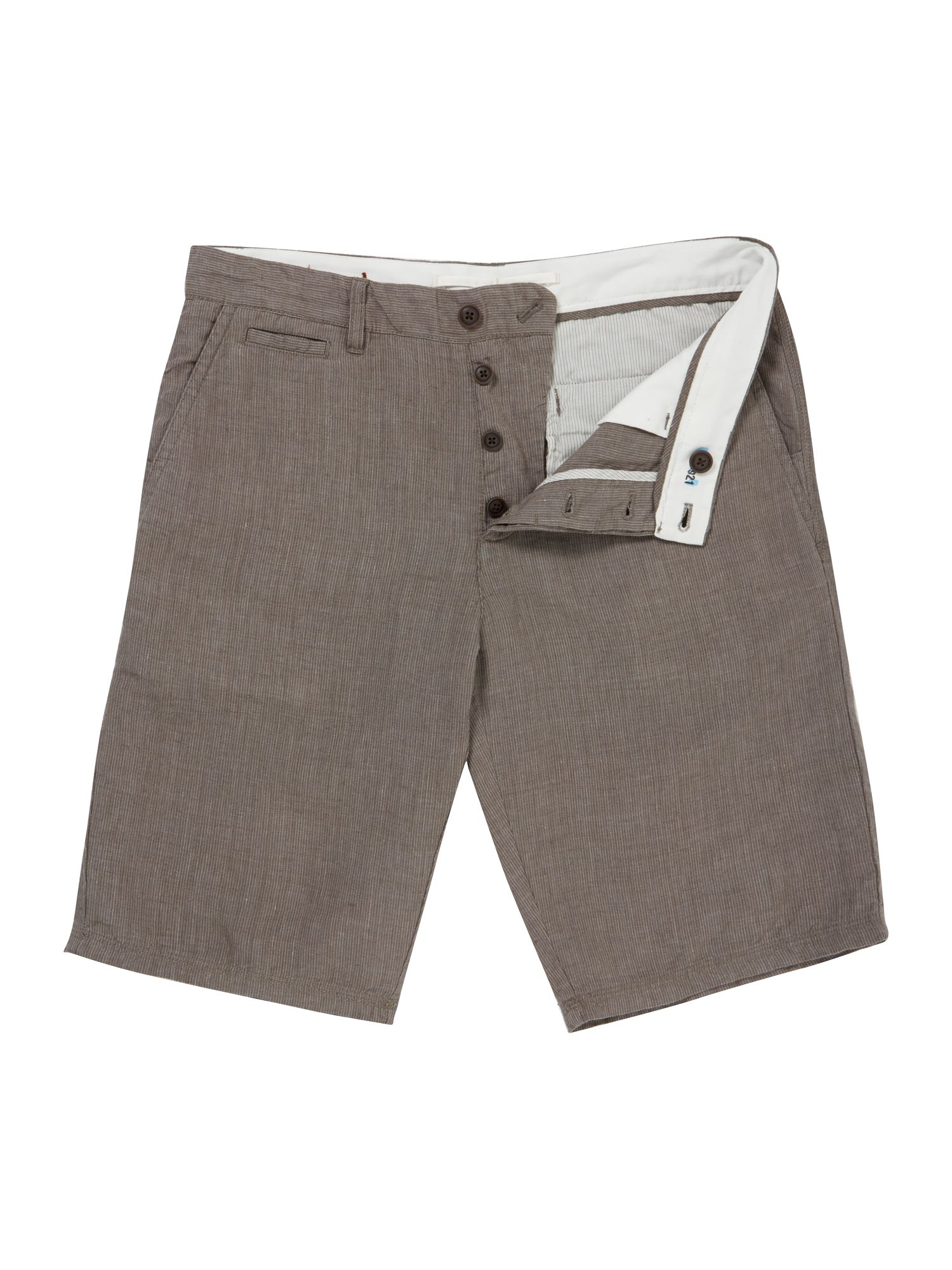 archie stripe linen short