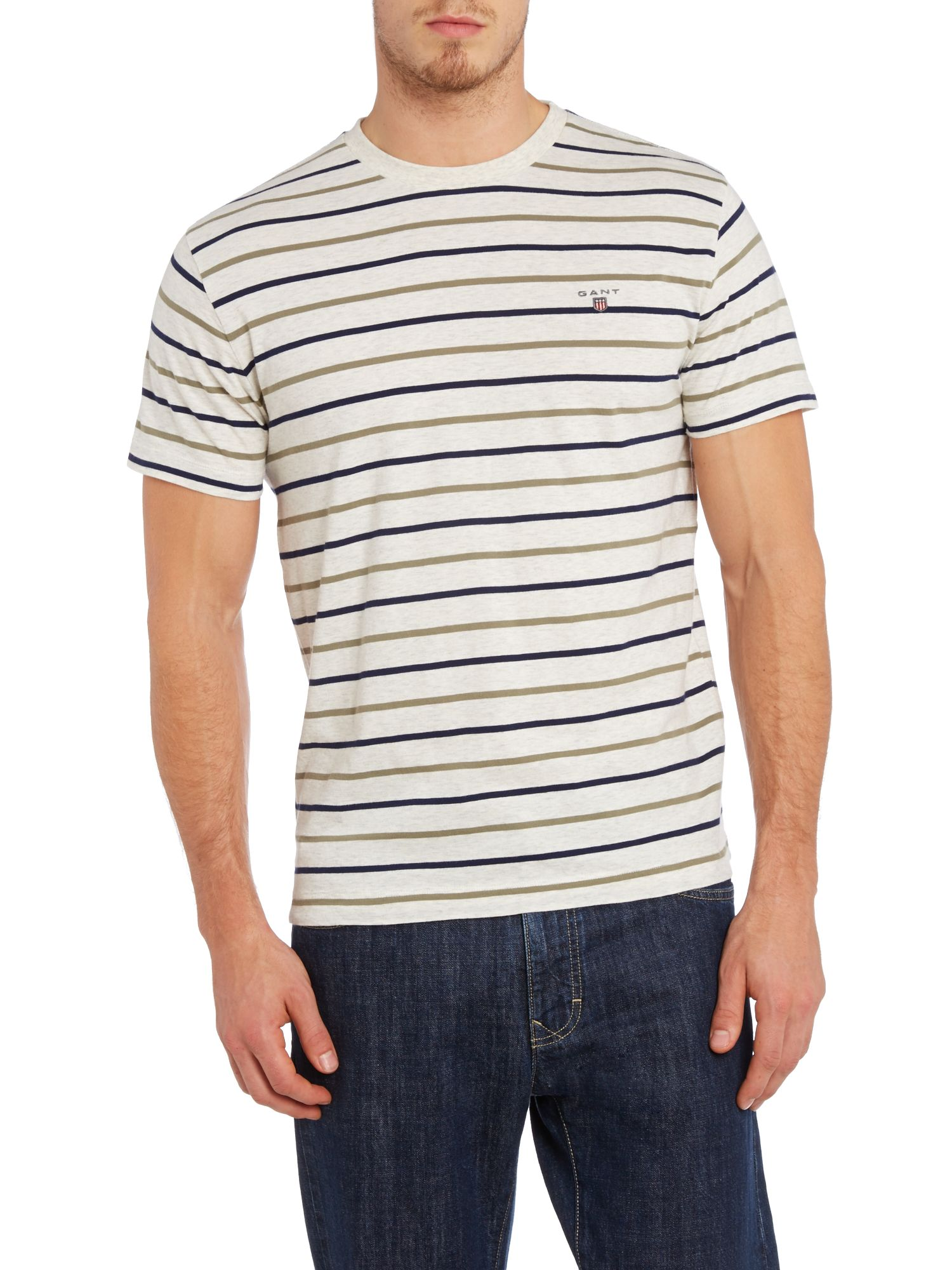 3 Colour bretton stripe t shirt