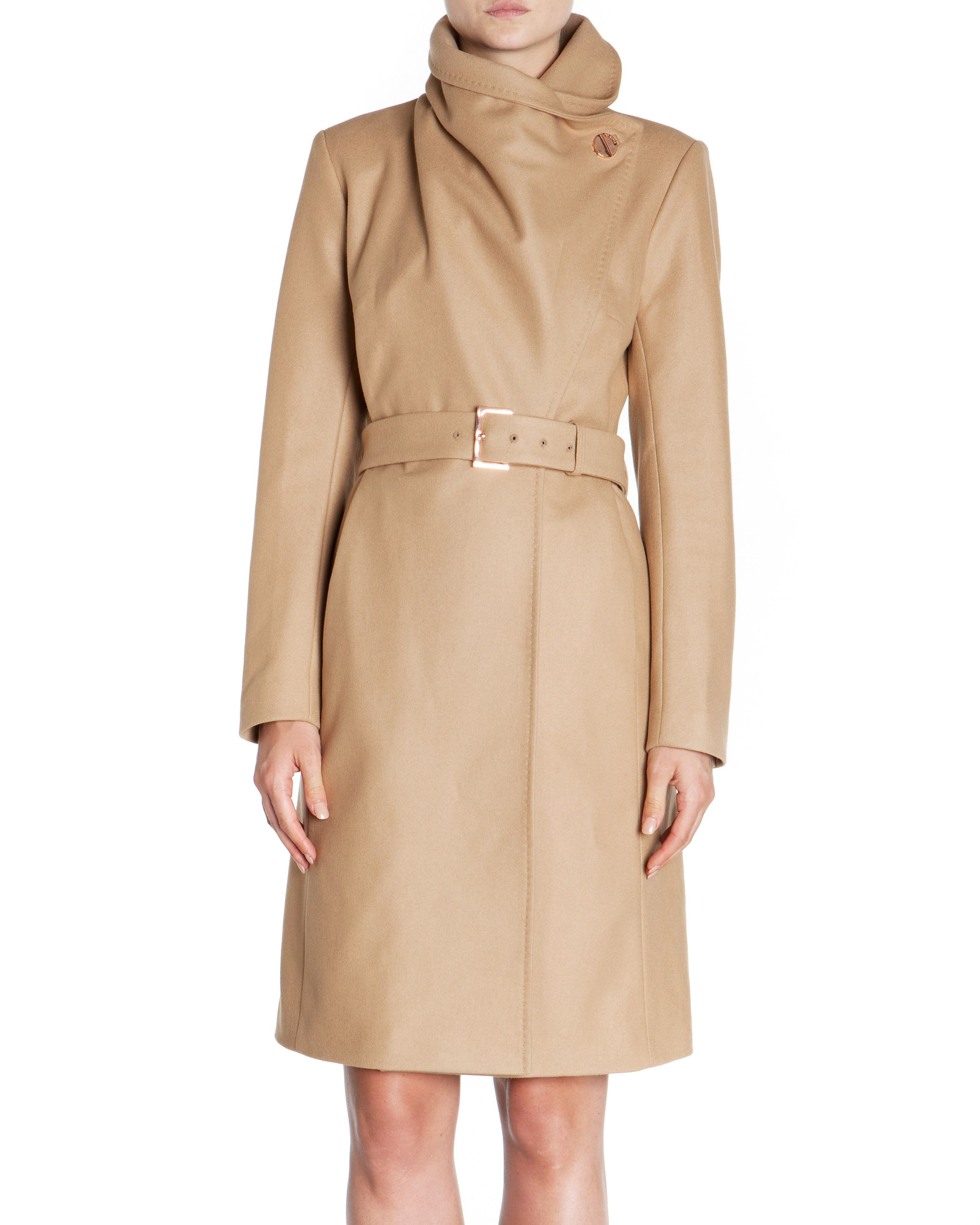 Madigan draped front coat