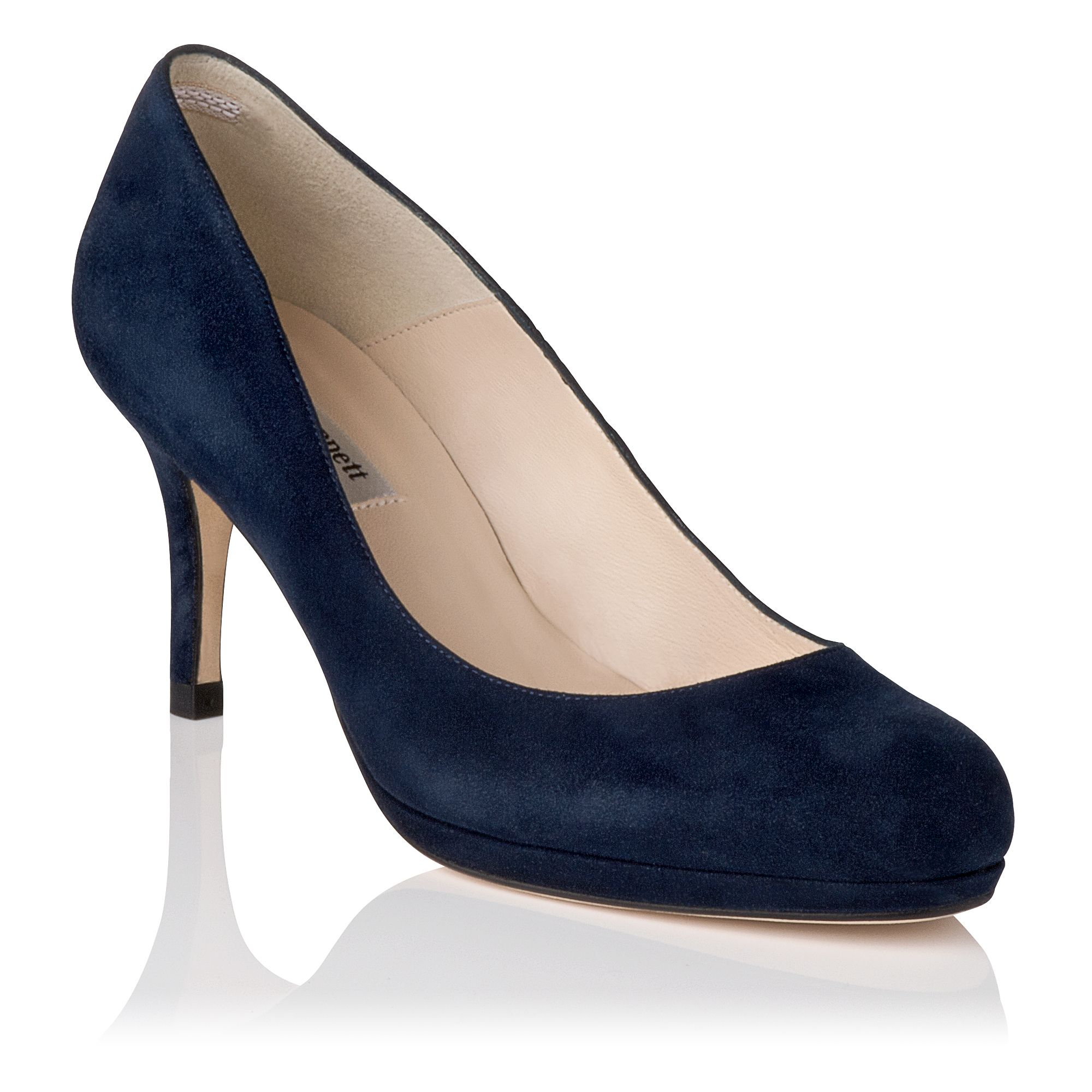 Sybila suede platform court shoes