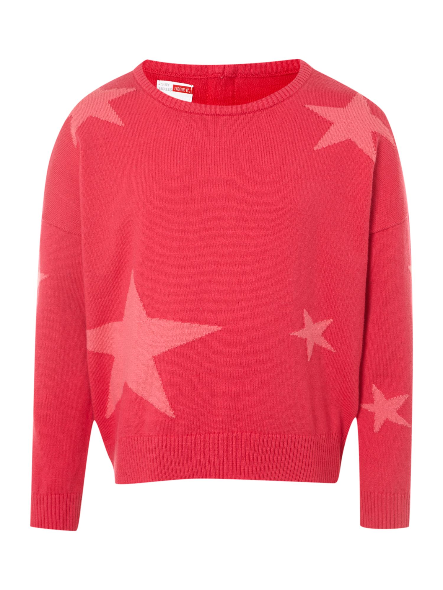 Girl`s star short knit jumper