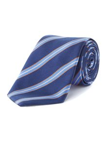 Brenard Club Stripe Silk Tie