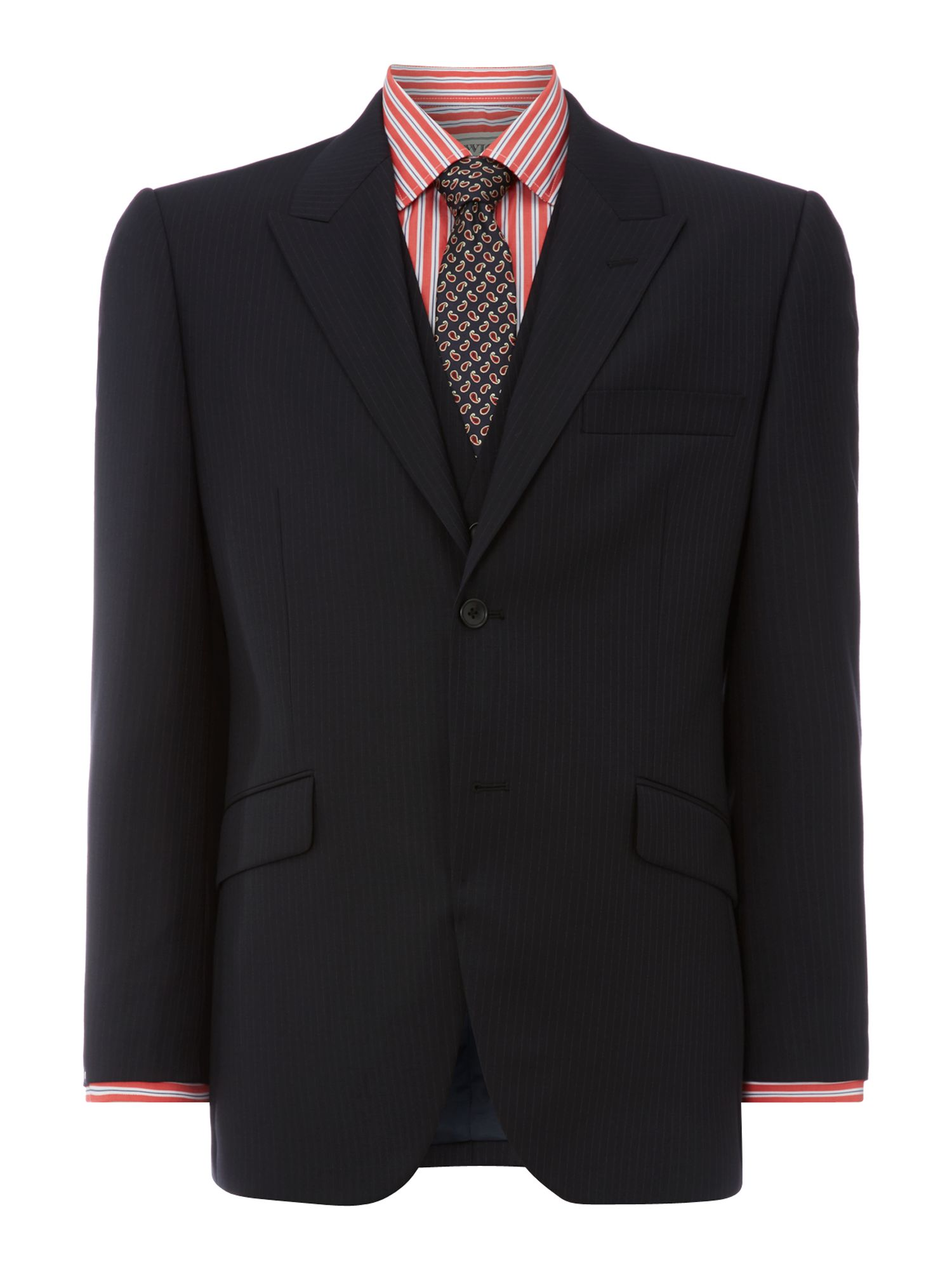 Prospect textured fine stripe peak suit jacket