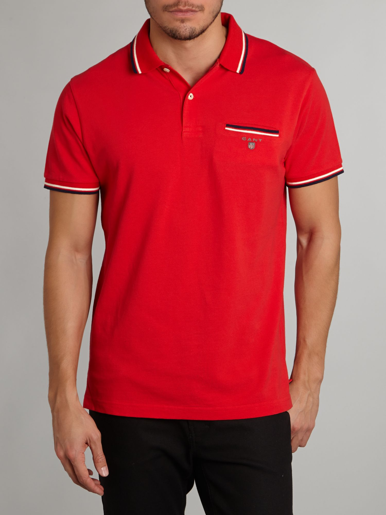 Polo shirt with 3 colour tipping