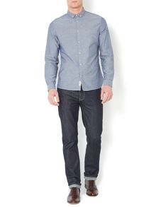 taylor plain chambray long sleeve shirt