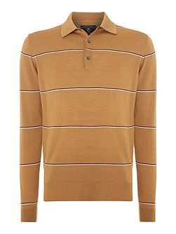 Men's Peter Werth 1975 merino hooped knitted polo