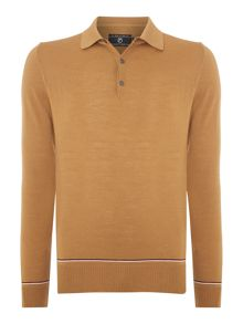 Peter Werth 1975 merino tipped knitted polo shirt