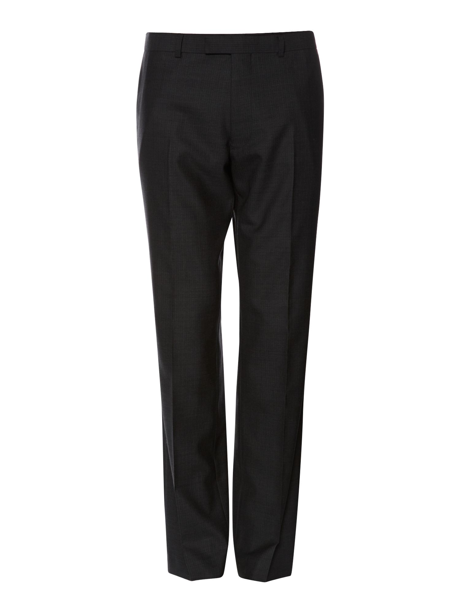 Boulder coloured fine stripe suit trouser