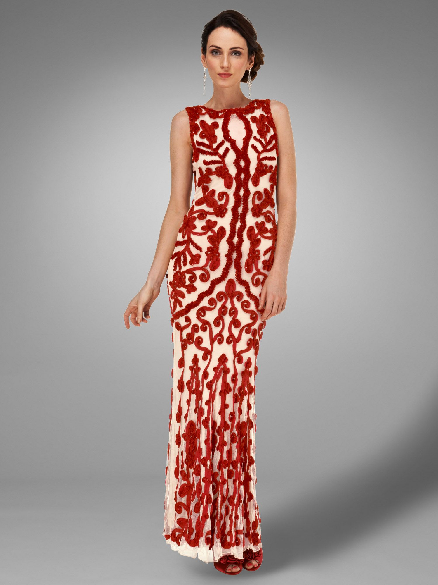 Mayfair tapework full length dress
