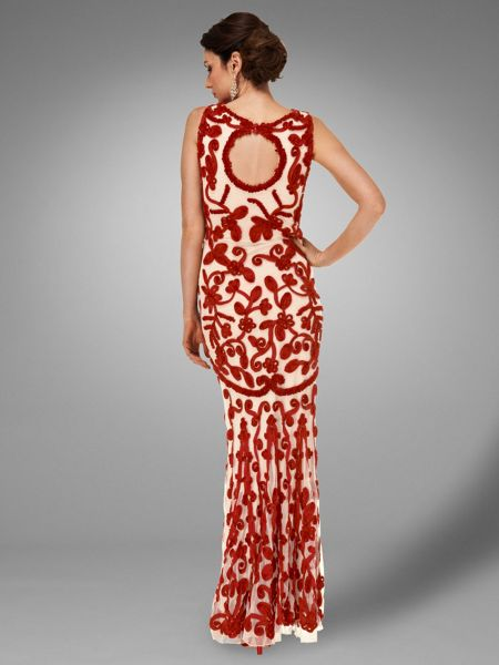 Phase Eight Mayfair tapework full length dress