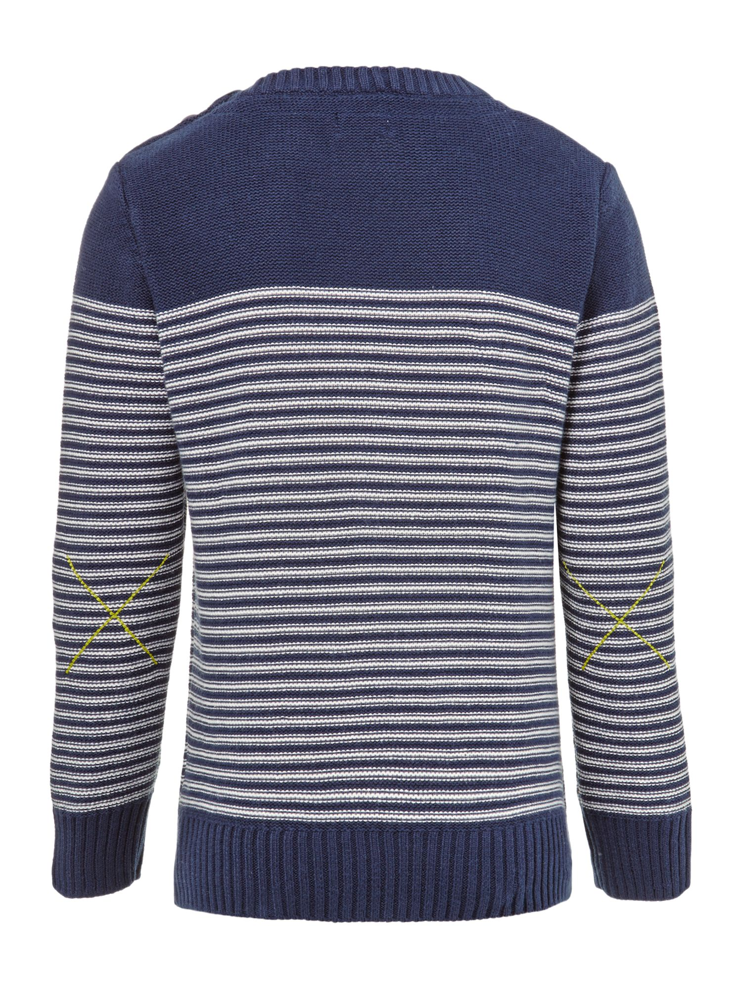 Boy`s nautical striped knit jumper