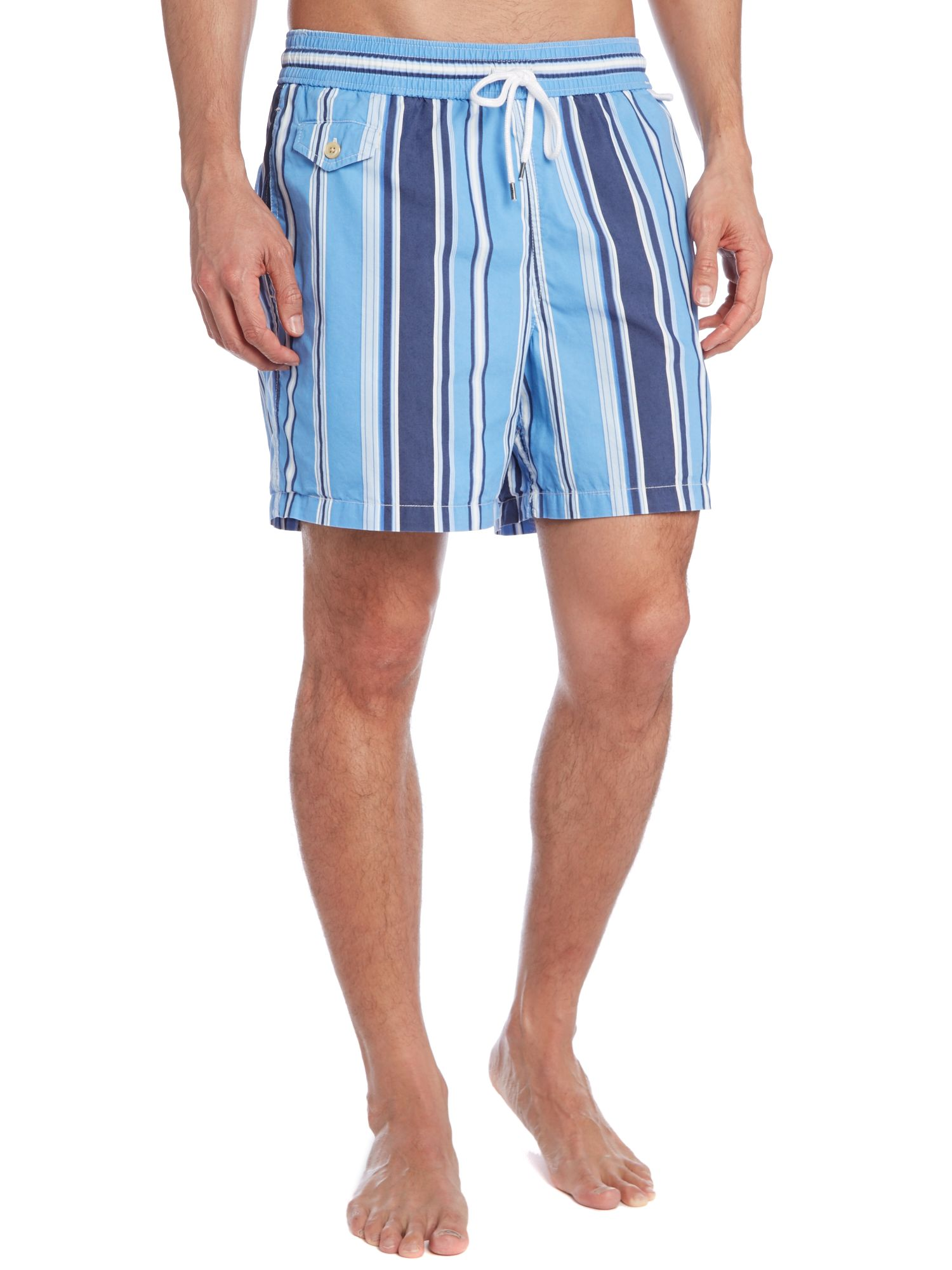 Multi stripe swim short