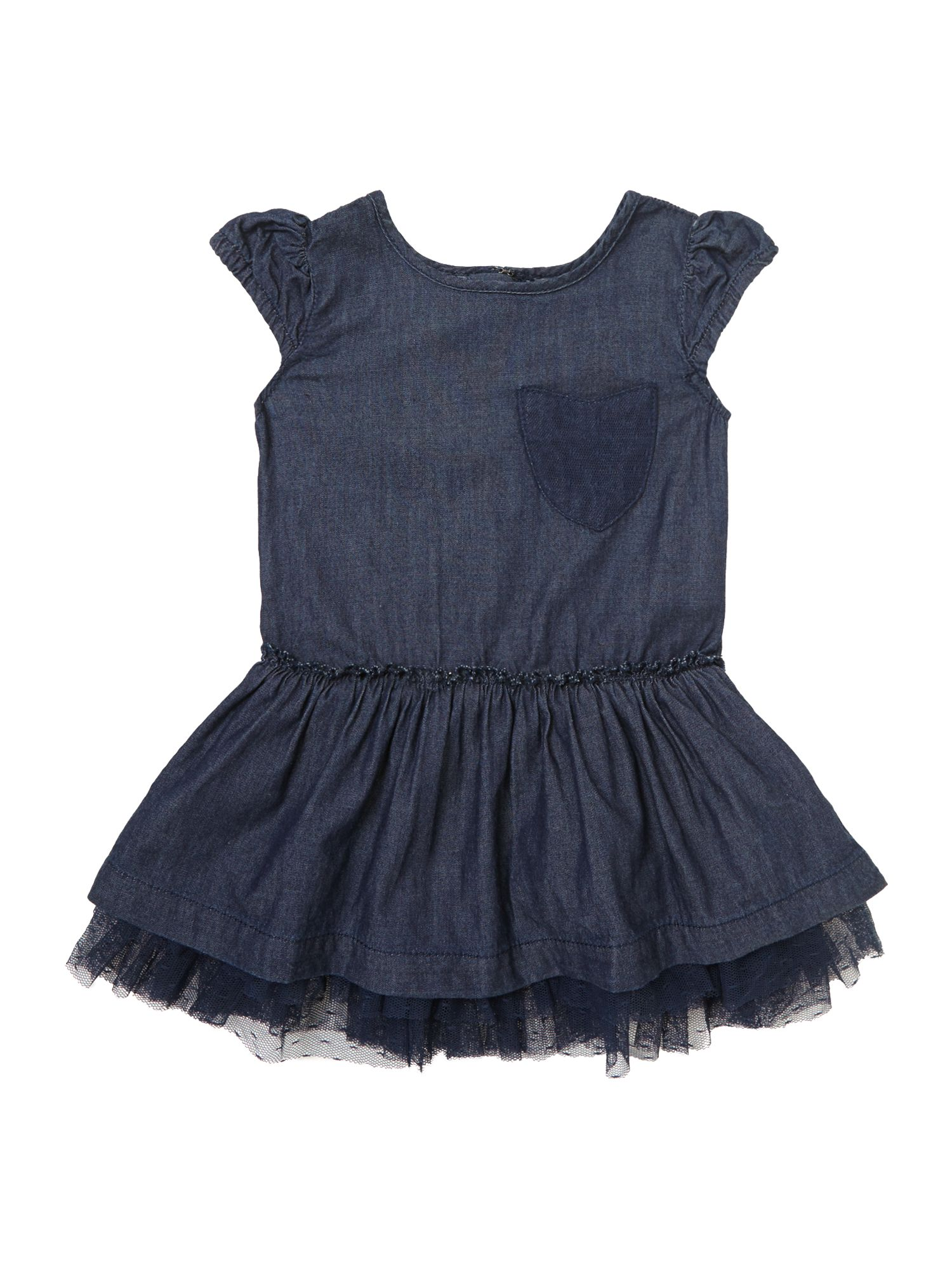 Girl`s pocket detail denim dress