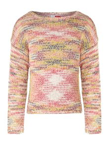 Girls oversize knit jumper