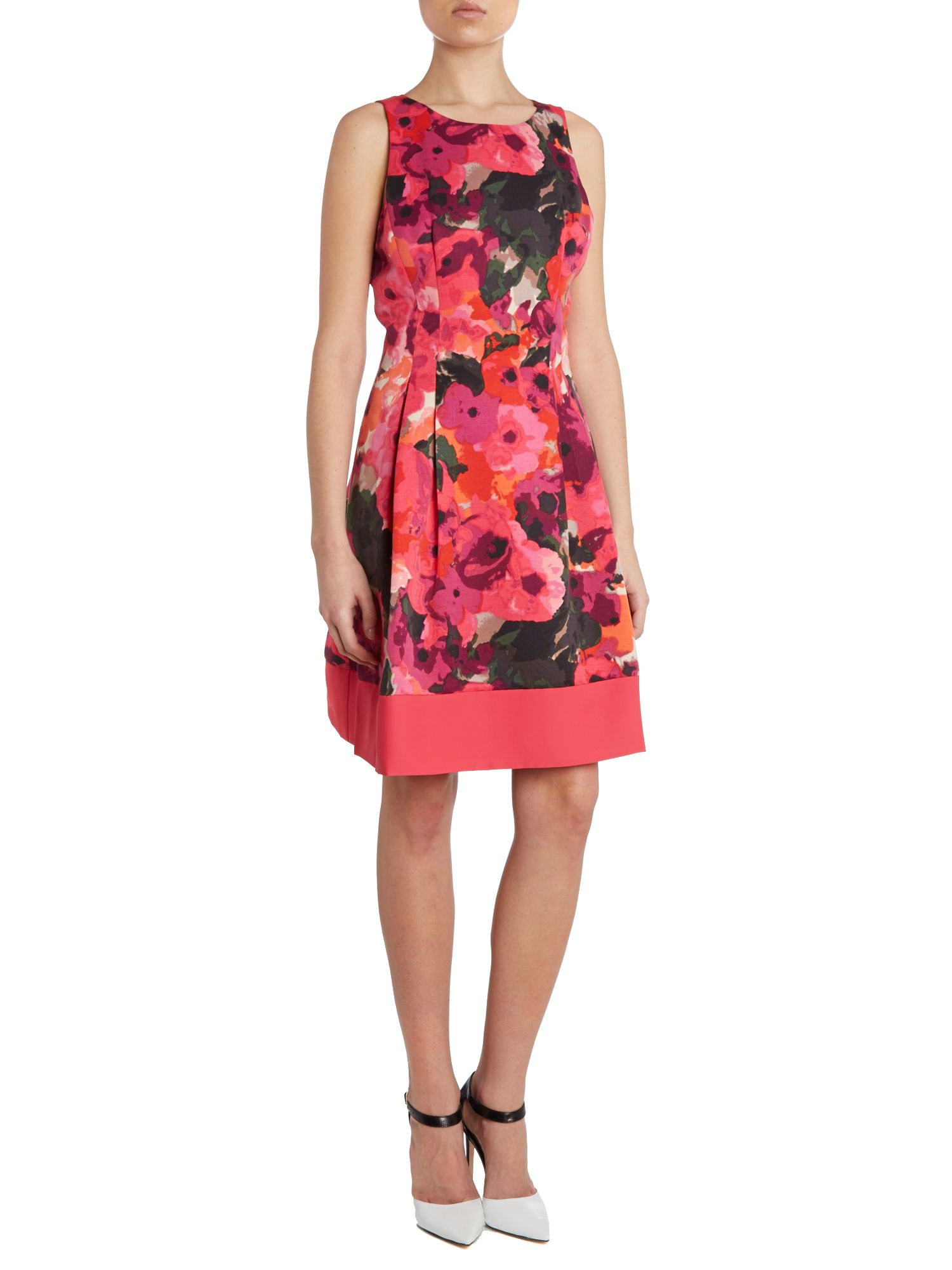Pansy print shift dress