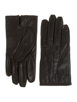 Mens lined glove with touchscreen tech