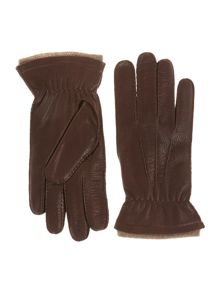 Hansewn cashmere trim gloves