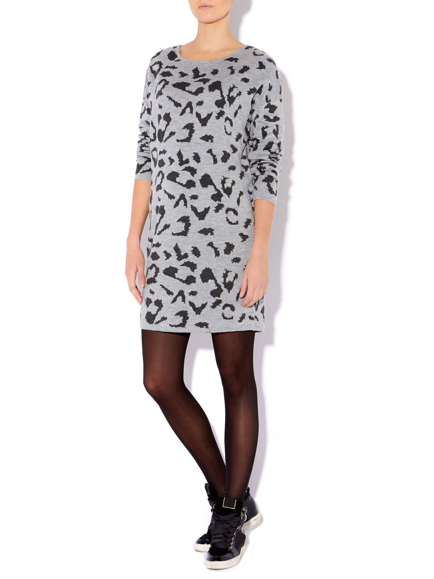 Rosalee long sleeve printed knit dress