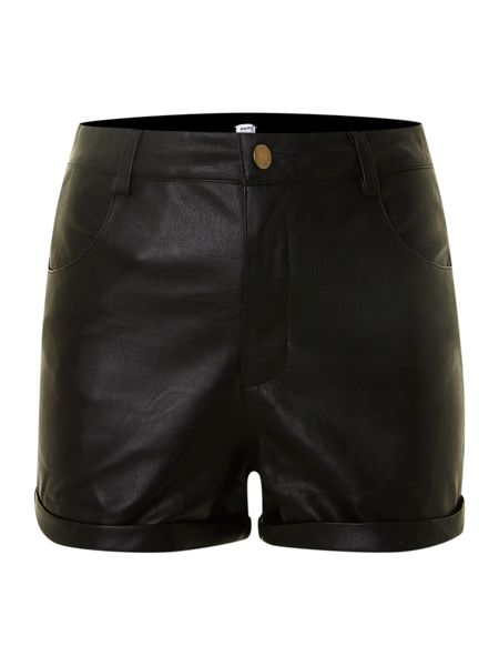 True Decadence Pu high waist shorts