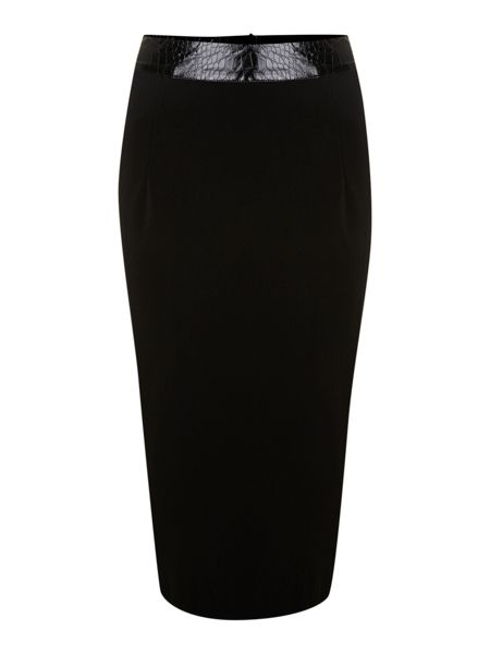True Decadence Pu waisted pencil skirt