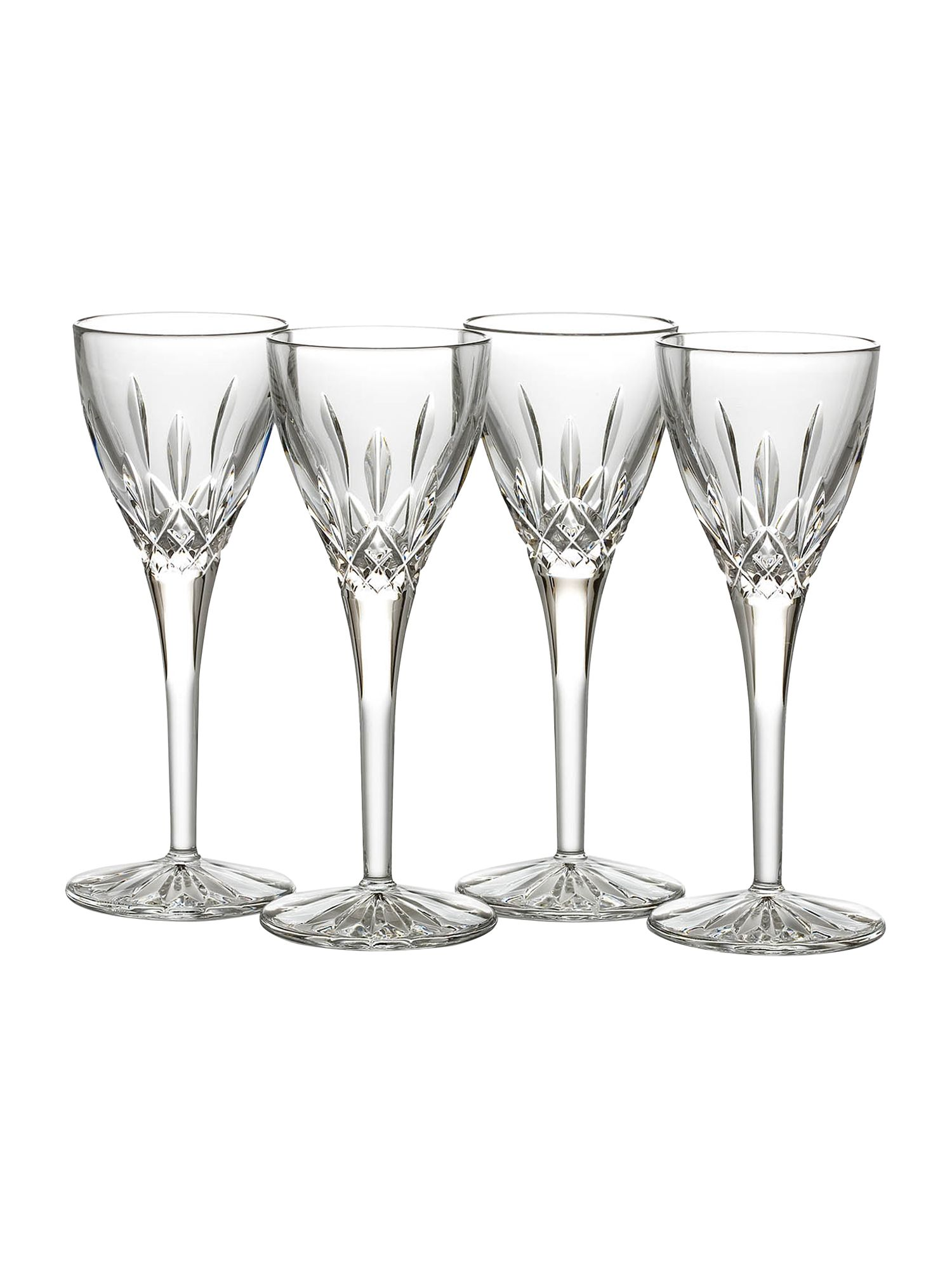 Lismore cordials glasses, box of 4