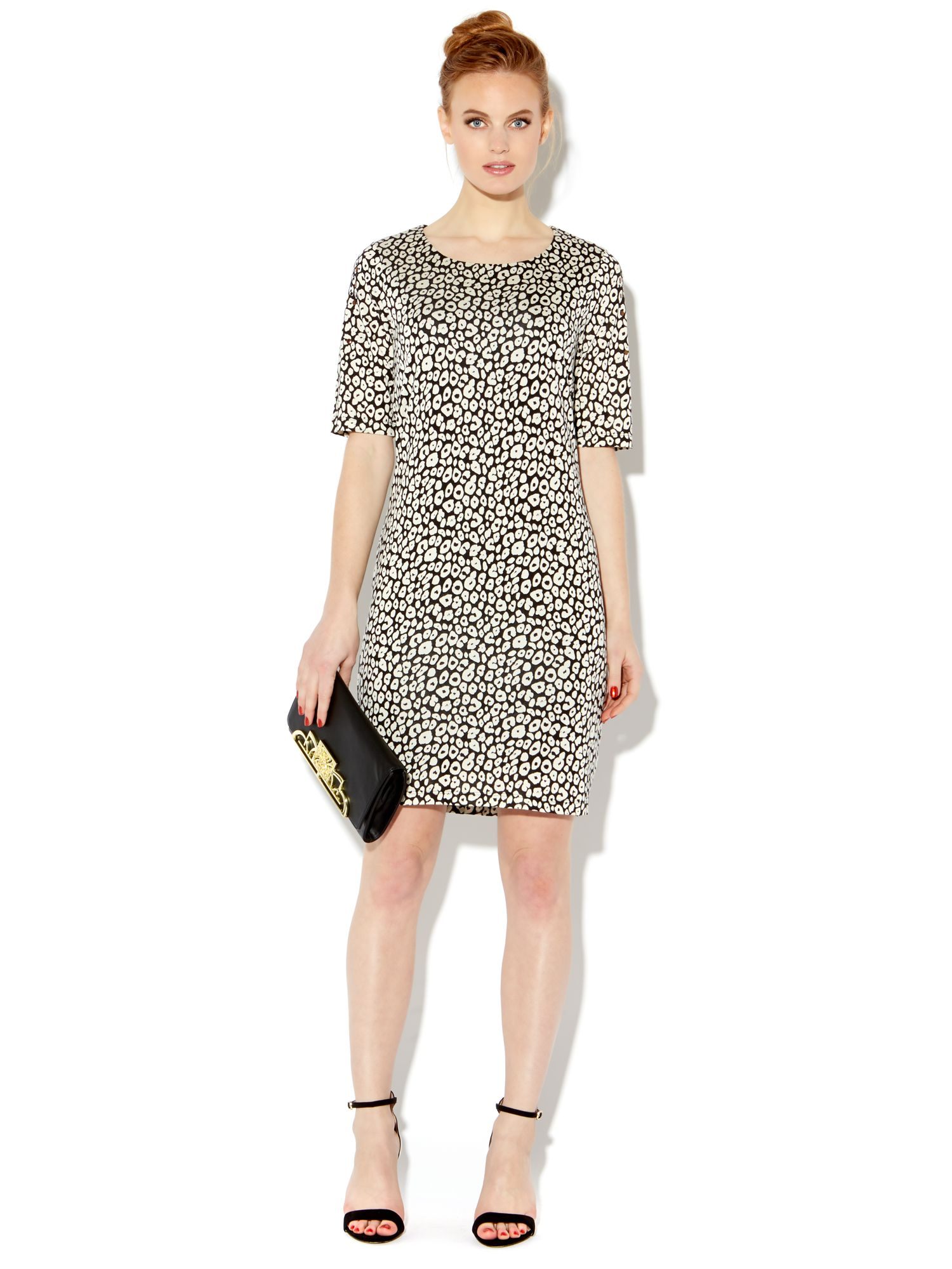 Leopard stud detail bodycon dress