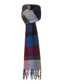 Ruthven bold coloured check scarf