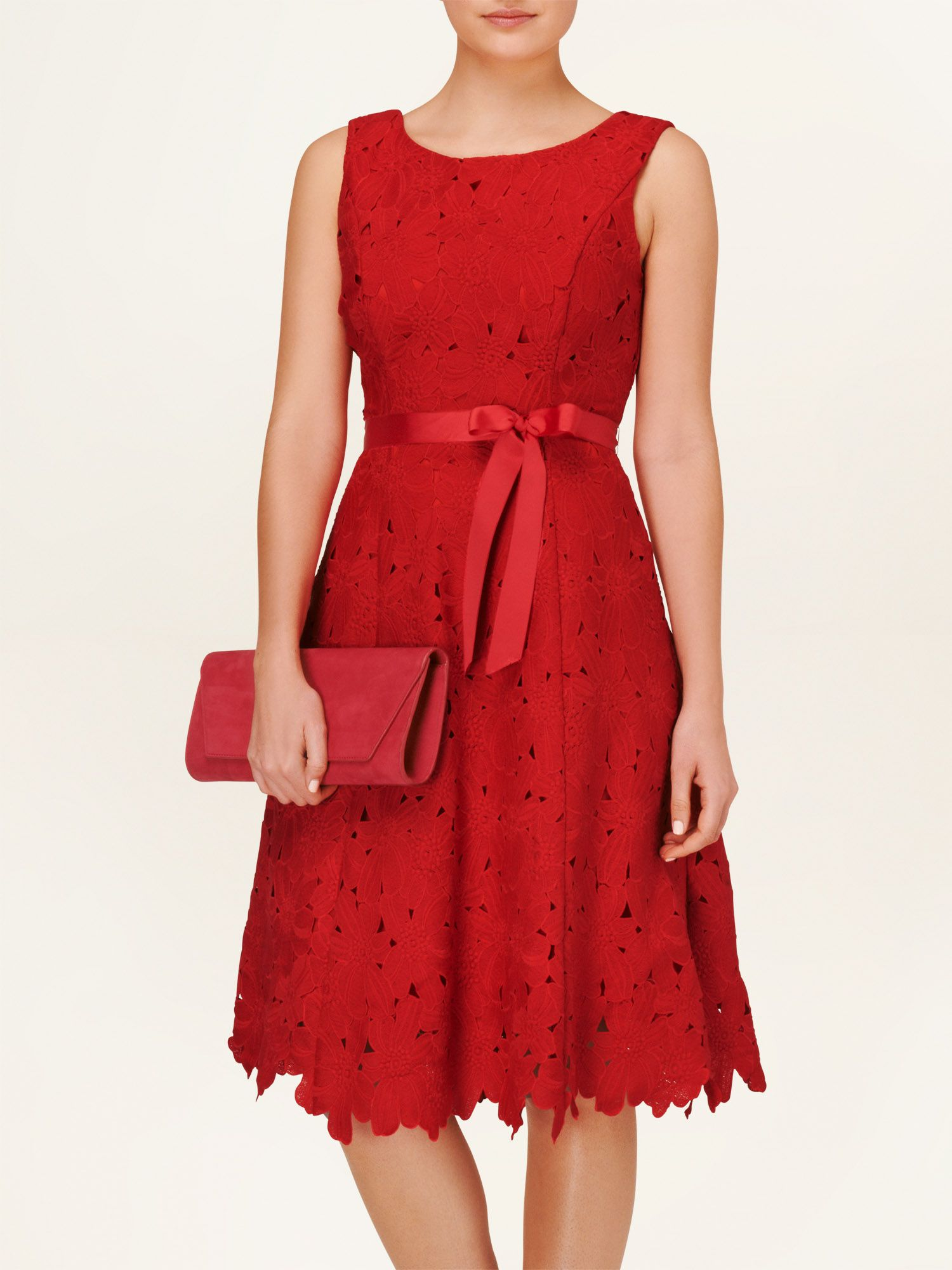 Fabia embroidered fit and flare dress