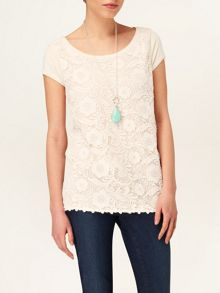 Lottie lace knit top