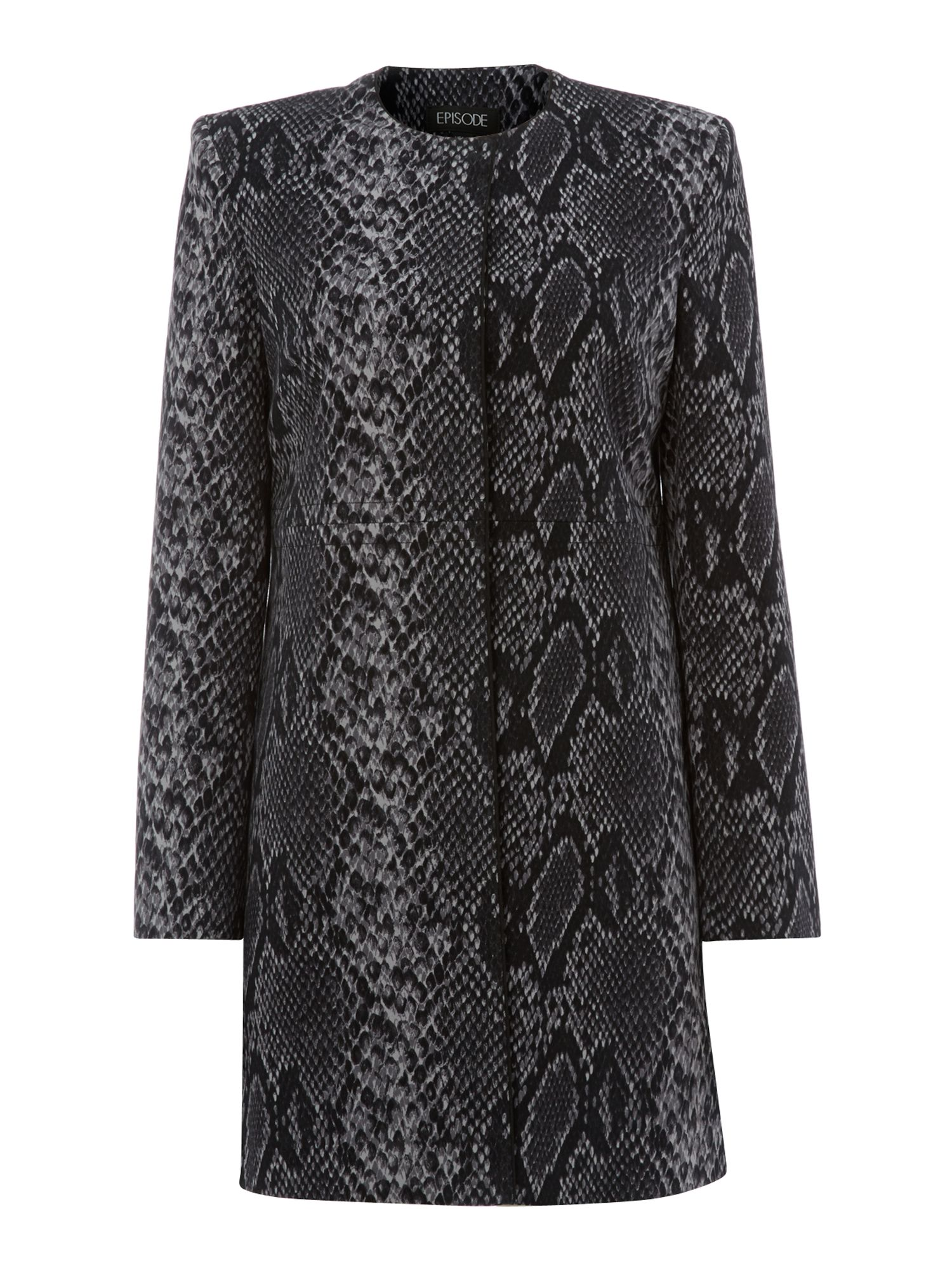Lizard print dress coat