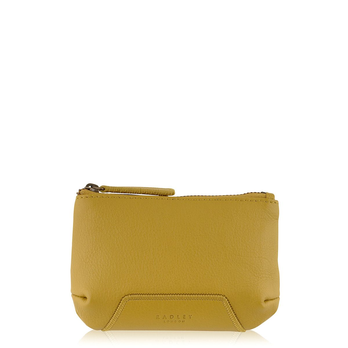 Yellow small zip coin purse