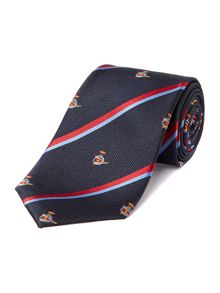 Wye Nautical Stripes and Geo Silk Tie