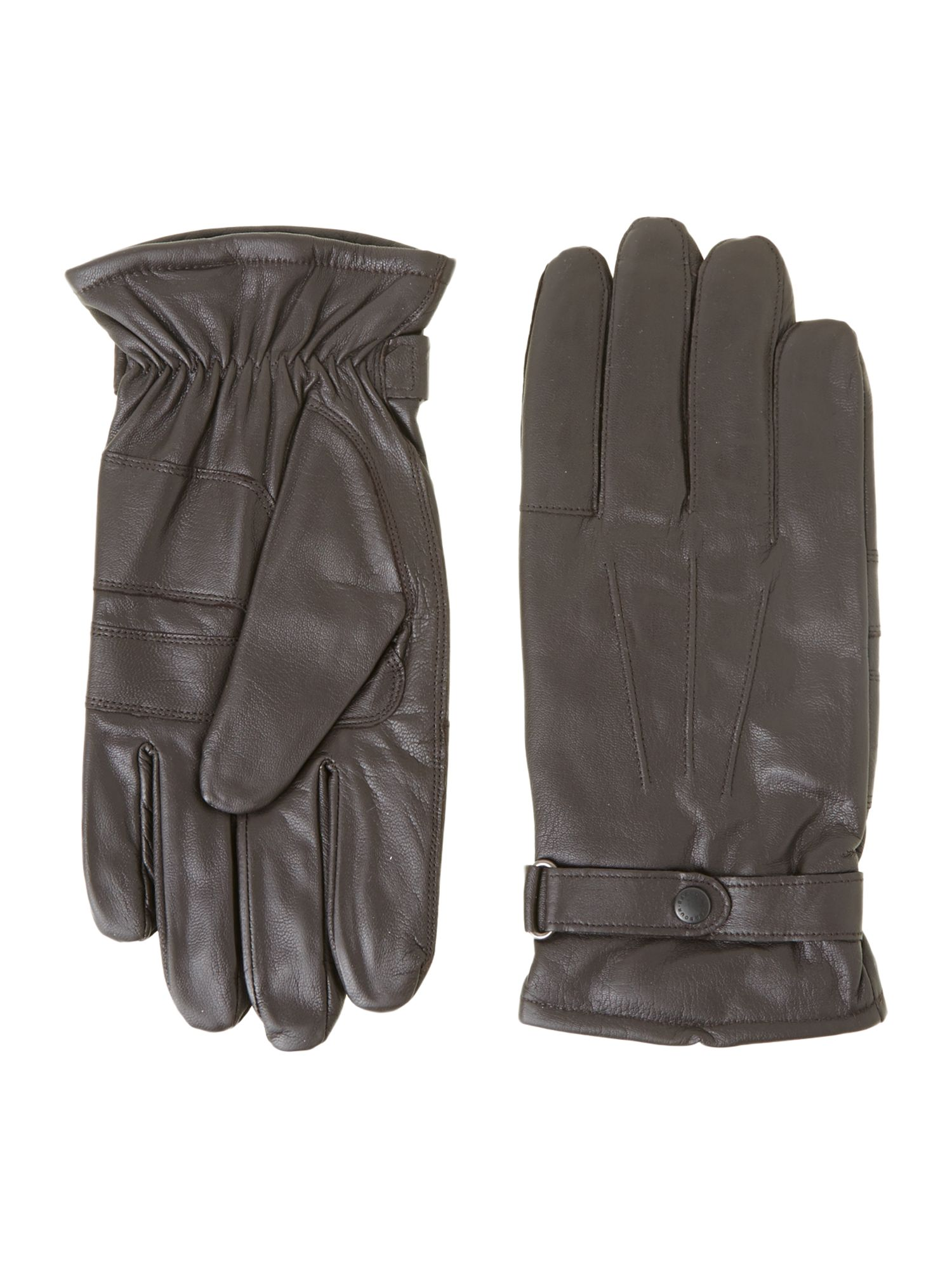 Burnished leather thinsulate gloves