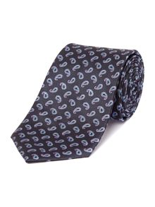 Canning Small Paisley Geo Silk Tie
