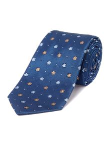 Rapid Small Flowers Textured Silk tie
