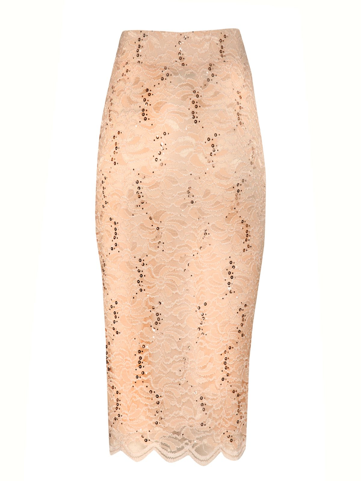 Sequin lace pencil skirt