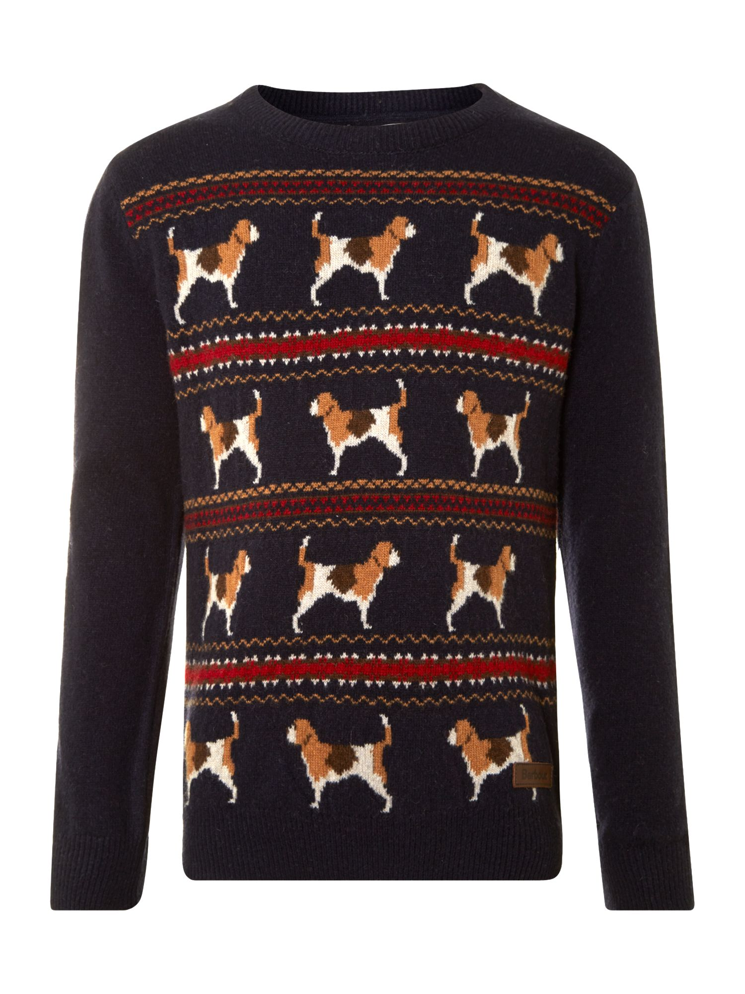 Boy`s knitted beagle jumper