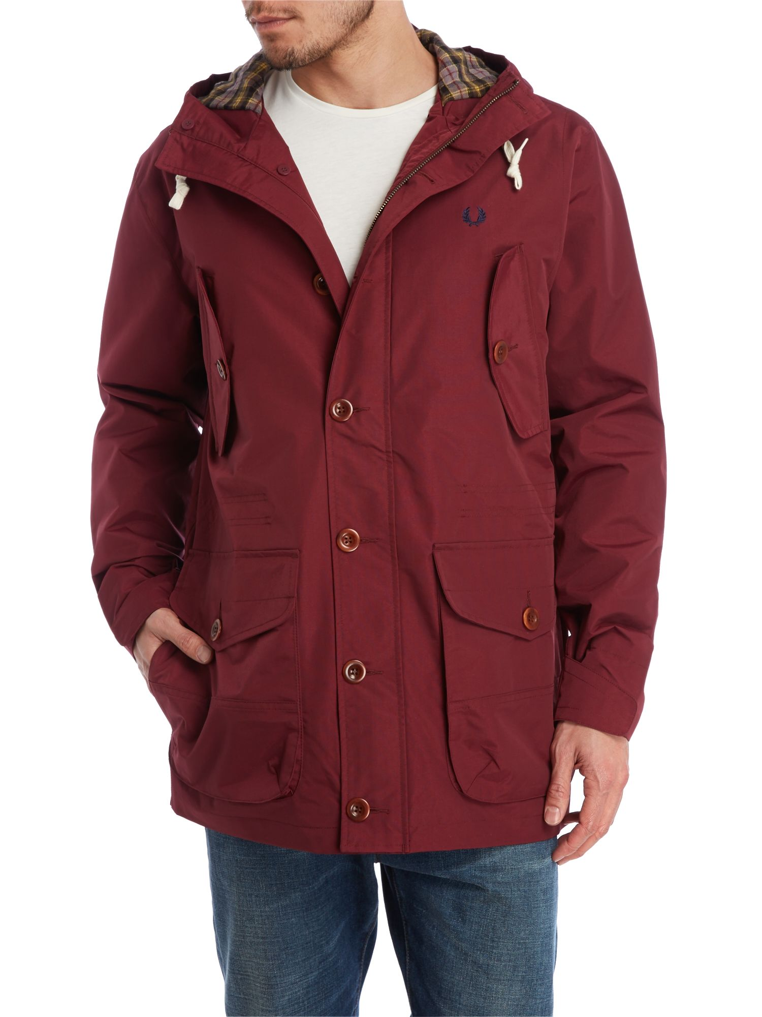 Hooded mountain parka