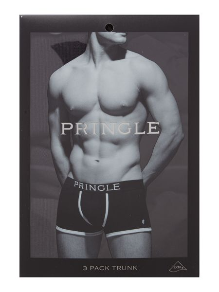Pringle 3 pack black trunks