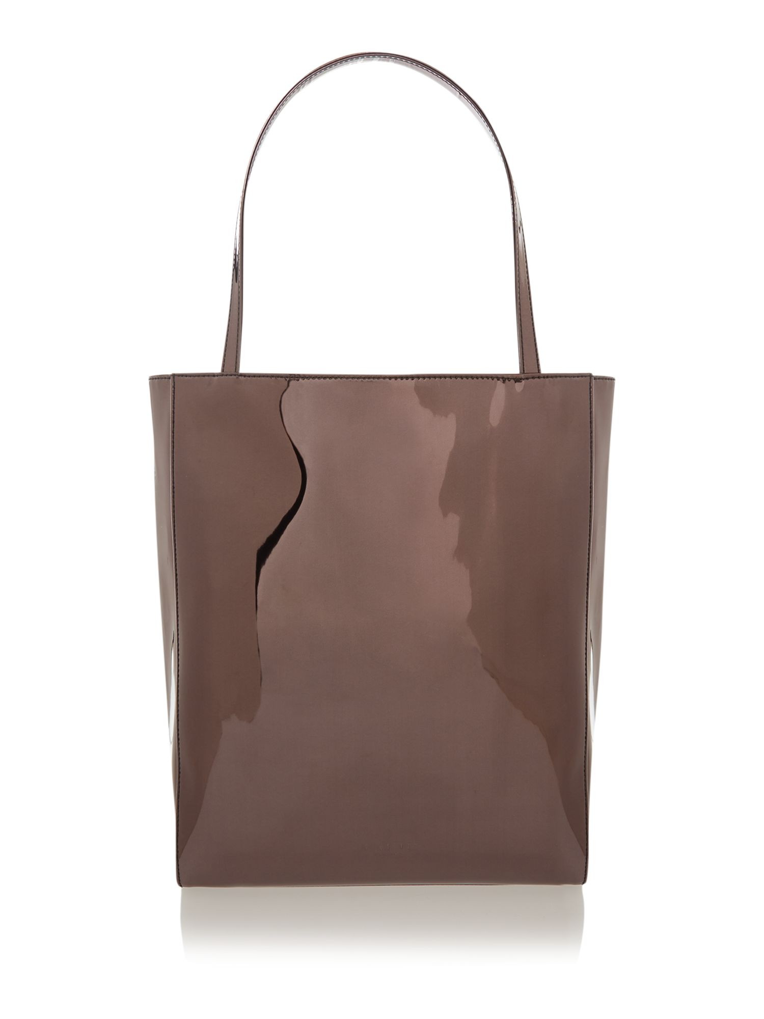Balck large mirrored shopper bag