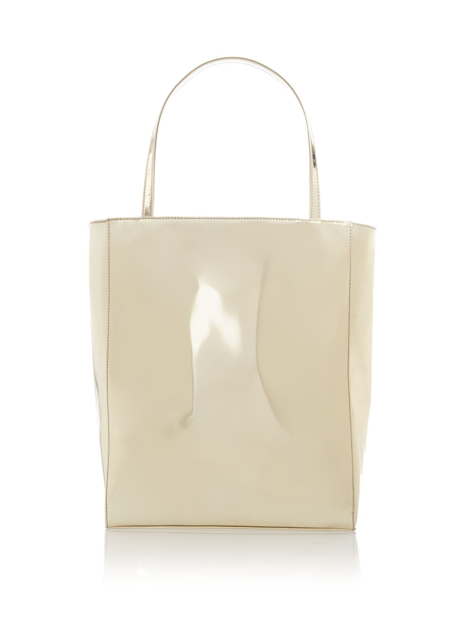 Gold large mirrored shopper bag